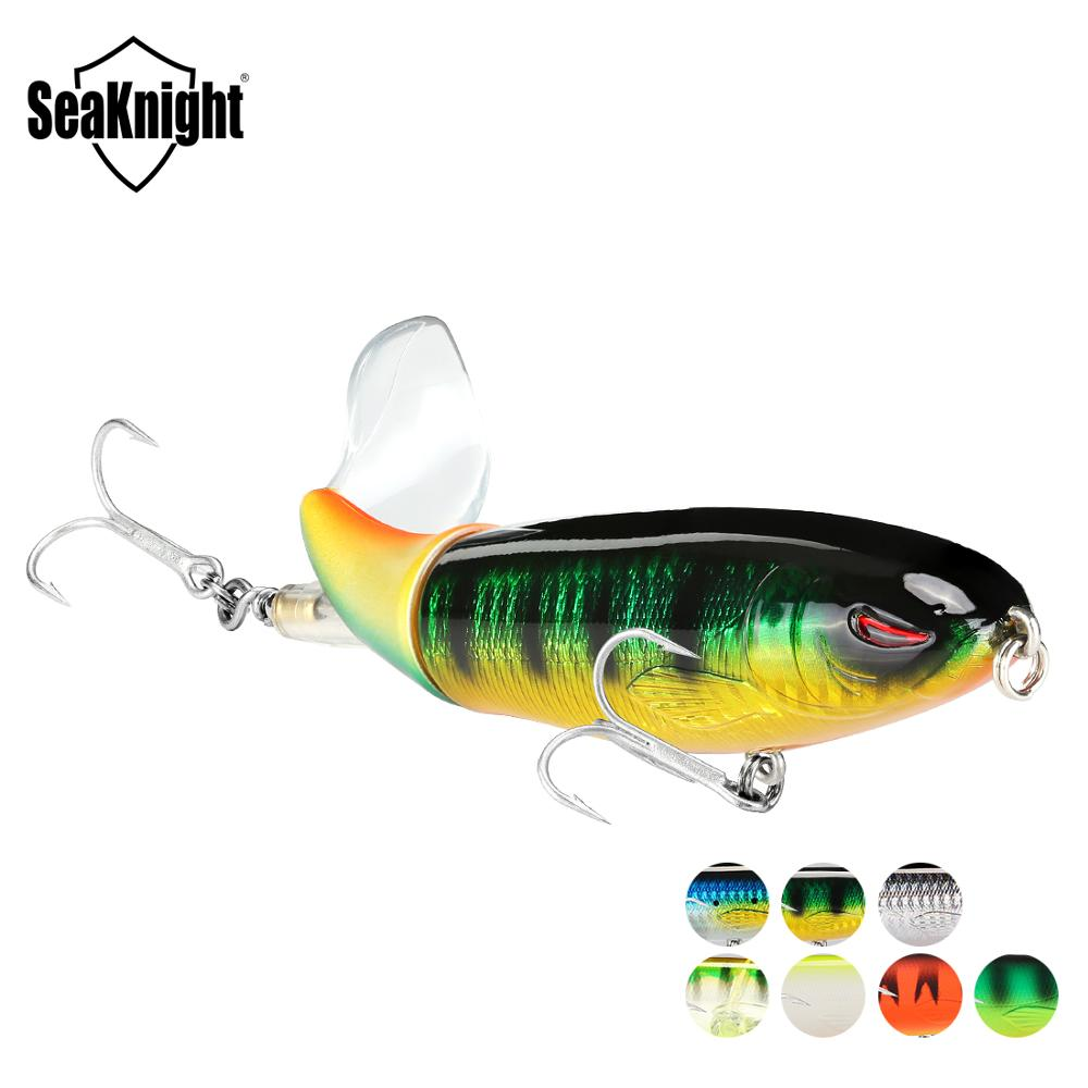 SeaKnight SK050 Whopper Plopper 1PC 13g/90mm 19g/110mm 39g/130mm Topwater Fishing Lure Rotating Tail VMC Hooks Bass Fishing Bait