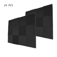 """24 PCS Acoustic Wedge Sound Proof Foam 12"""" X 12"""" X 1"""" Inches Noise Isolating"""