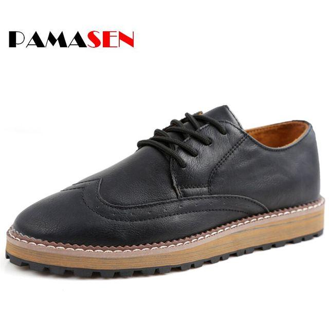 Venda quente de Alta Qualidade Homens Sapatos de Couro Sapatos Da Moda Homens Sapatos Casuais Rendas Até Apartamentos Homens Zapatos Hombre sapatos Dropshipping