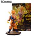 "Anime Dragon Ball Z Figuarts Goku Figure Super Saiyan Son Gokou Goku Fighting Ver. Anime PVC Action Figures Model Toy 7"" 18CM"