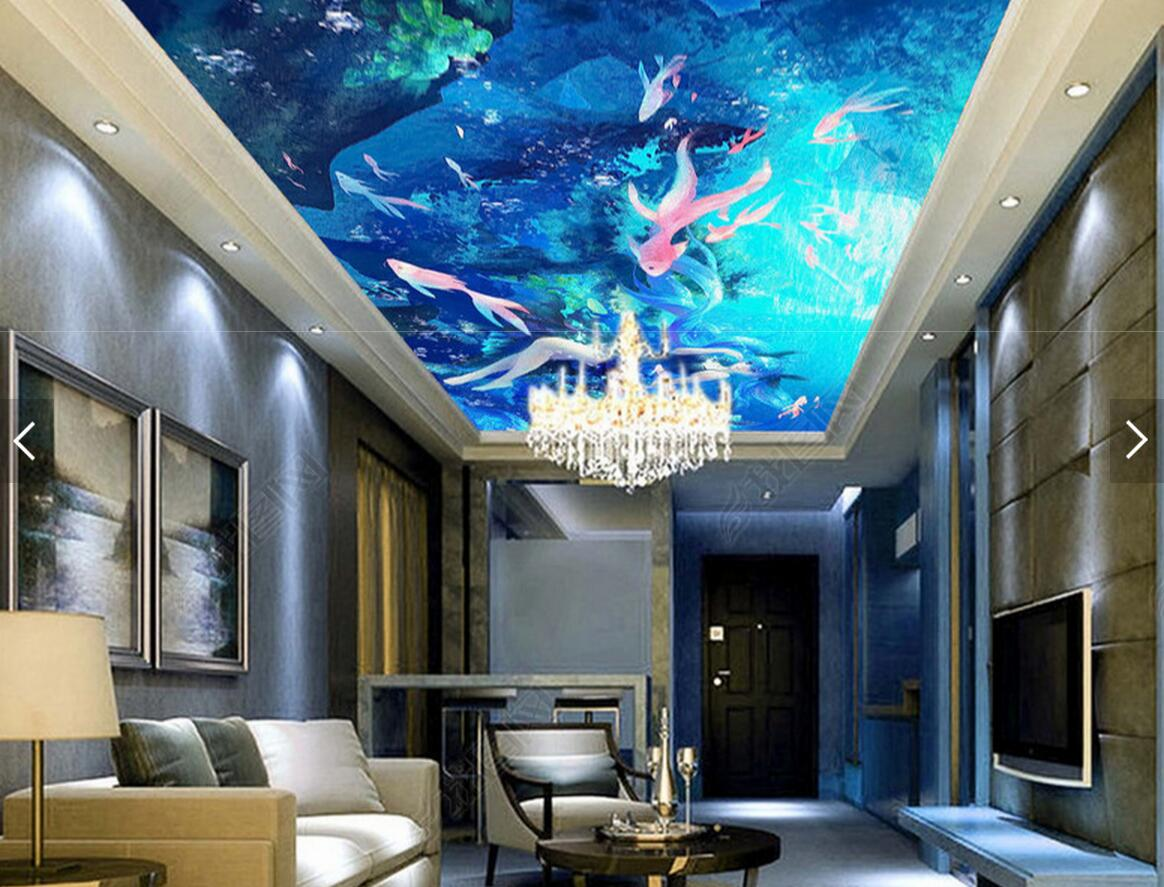 European 3D Sea World Fish Ceiling HD Wallpaper Murals Photo Wall Mural for  Living Room Wall Paper Rolls Custom Wallcovering-in Wallpapers from Home ...