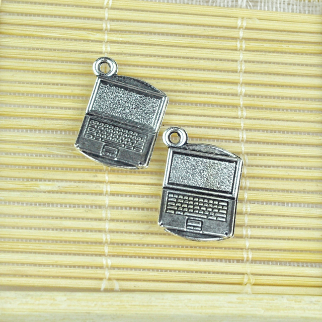 Wholesale metal alloy pendant charms 50pcs tibetan silver laptop wholesale metal alloy pendant charms 50pcs tibetan silver laptop notebook computer pendant charms for jewelry keychains aloadofball Choice Image