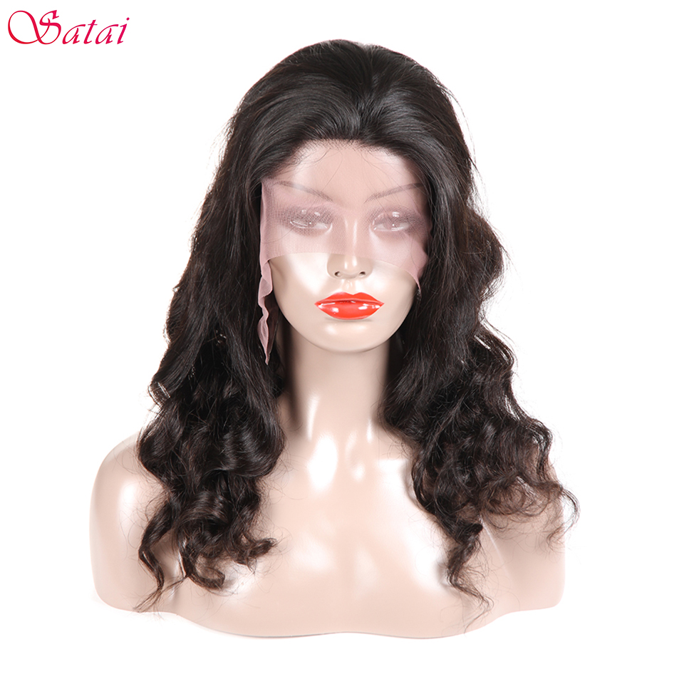 Satai Lace Front Wigs Loose Wave Remy Hair Brazilian Lace Frontal Human Hair Wigs For Women Bleached Knots With Natural Hairline