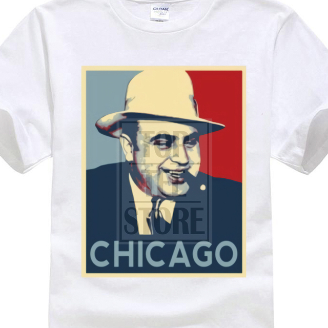 787e92c0ba1 2017 Newest Men S Funny Al Capone Italian Gangster Chicago Hope Obama T  Shirt