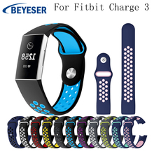 цена на Replacement Rubber Watch Band for Fitbit Charge 3 Strap Bracelet for Fitbit Charge 3 WatchBand Wrist bands Smart Strap Wristband