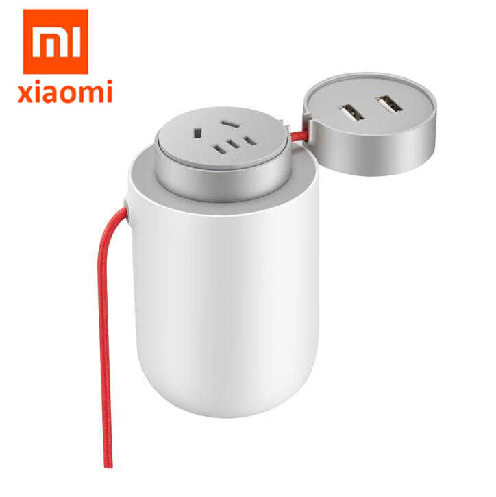 Original Xiaomi Mijia 100W Car Socket Power Inverter Converter DC 12V to AC 220V with 5V/2.4A Dual USB Ports Smart Car Charger