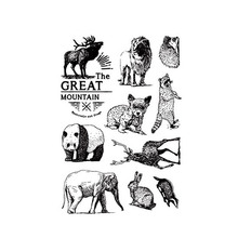 New Forest Animals Panda Elephant Clear Stamps for Scrapbooking DIY Silicone Seals Photo Album Embossing Maker Template Crafts
