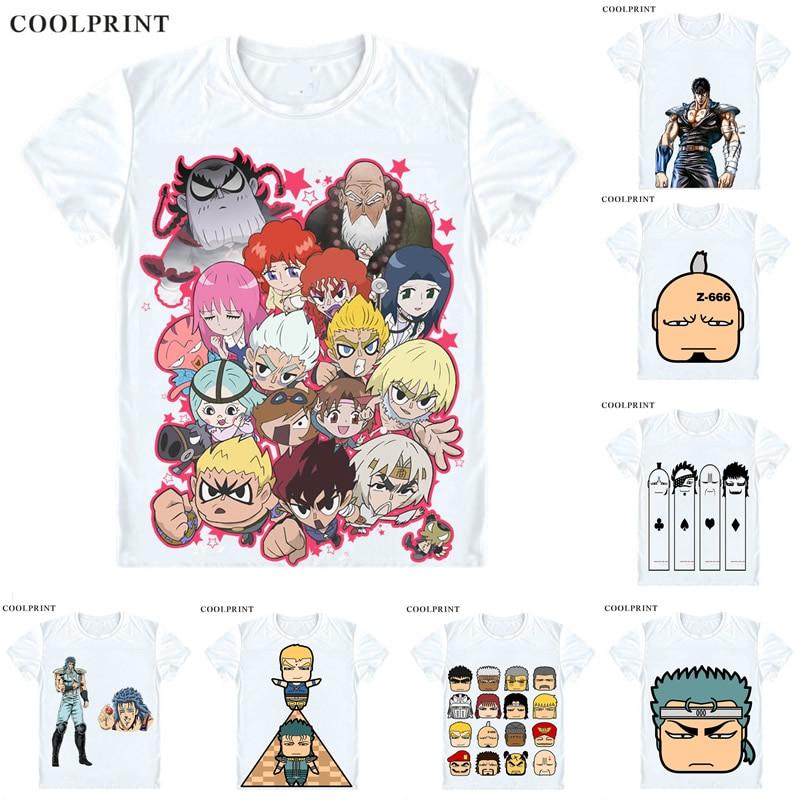 Hokuto no Ken T Shirt Fist of the North Star Fist of the Big Dipper Men Casual TShirt Premium T-Shirt Print Short Sleeve Shirts