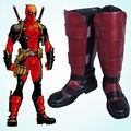 Versión Comics X-men Deadpool Battleframe Cosplay Botas Zapatos Hechos A Medida