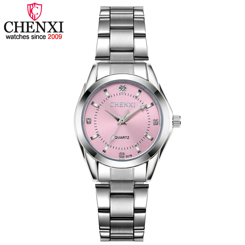 CHENXI Fashion Women Colorful Dial Reloj Mujer Concise Girl Wrist Watches Female Quartz Watches Ladies Rhinestone Clocks Watch