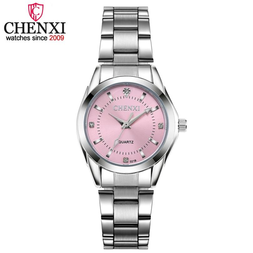CHENXI Moda Colorida de Las Mujeres Conciso Dial Reloj Mujer Chica Relojes de Pulsera de Mujer de Cuarzo Relojes de Señoras Rhinestone Relojes Reloj