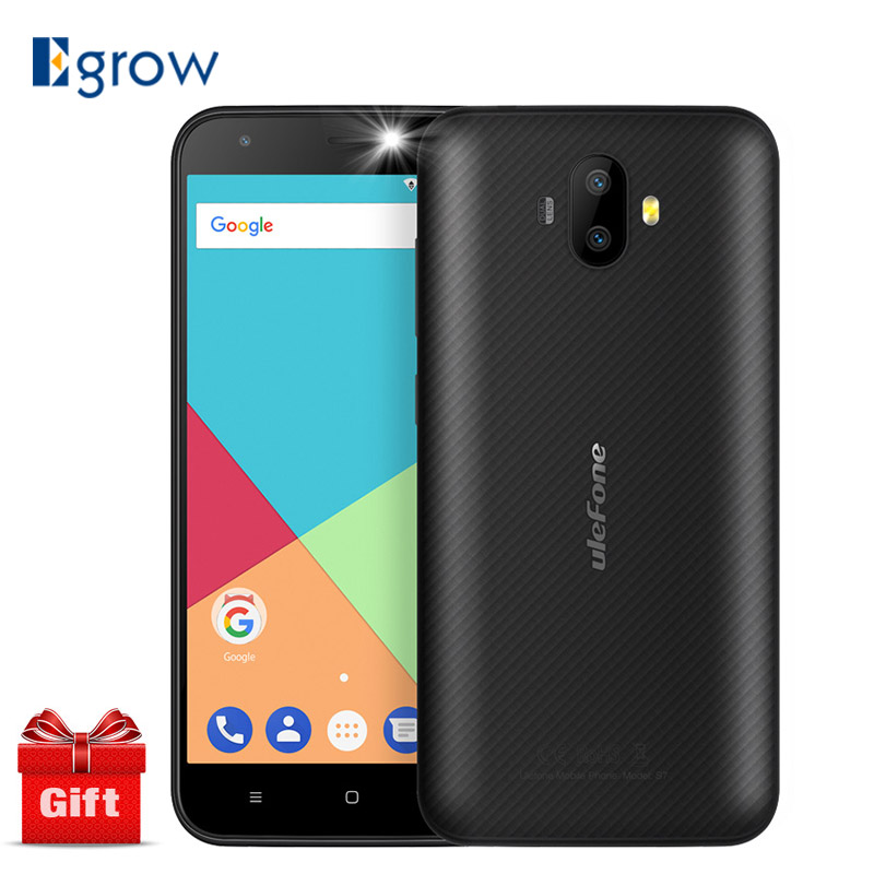 Ulefone S7 Dual Rear Cameras Mobile Phone MTK6580 Quad Core Android 7.0 5.0 inch HD 1GB RAM 8GB ROM 8MP+5MP 3G WCDMA Cell phones