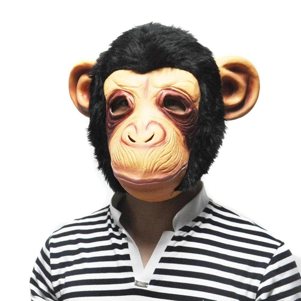 Halloween Animal Latex Big ears Chimp Mask Costume Mask Prop Scary ...