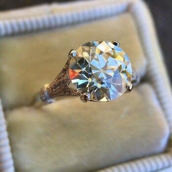 טבעת יהלום קריסטל ענק