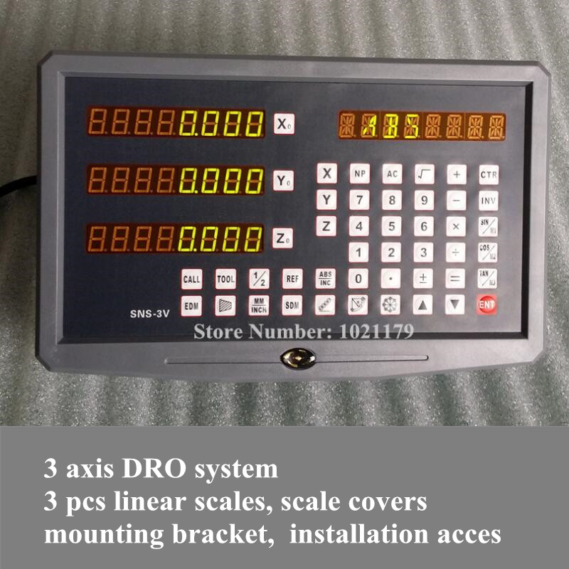 High quality complete set 3 axis milling machine linear glass scale and digital readout DRO