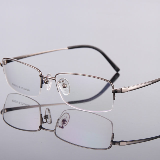 c07d6f4ee68 Men Pure Titanium Frame Eyewear Prescription Optical Eye Glasses Mens Myopia  Brands Lentes Oculos De Grau