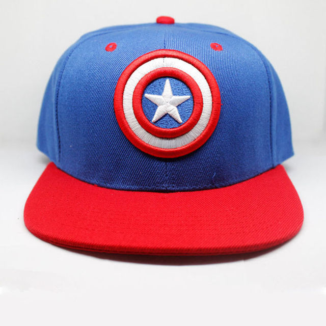 Super Hero Captain America Baseball Cap New Fashion Men and Women Cosplay  Cartoon Cap Embroidery Blue Hip Hop Caps Snapback Hats 61eb91bbe7