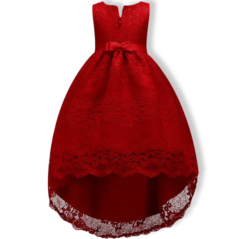 Girl Dress Elegant Lace Children Kids Princess Party Dresses For Girls Birthday Outfits Dresses Girls Evening Party Formal Wear