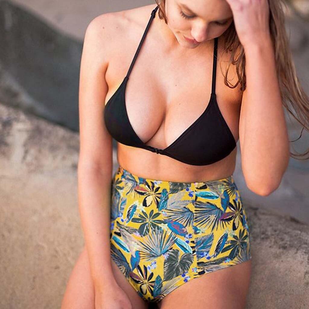 Womail Fashion Women Bikini Swimsuit 2019 New Floral Bikini Pushups Fille Bra Swimsuit Sexy Swimwear  Female Bathing I300114