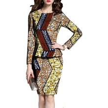 Autumn And Spring Two Pieces Set Wax Top and Skirt Women Suits Two Piece Set African Women Clothing Plus Size Lady Party Costume