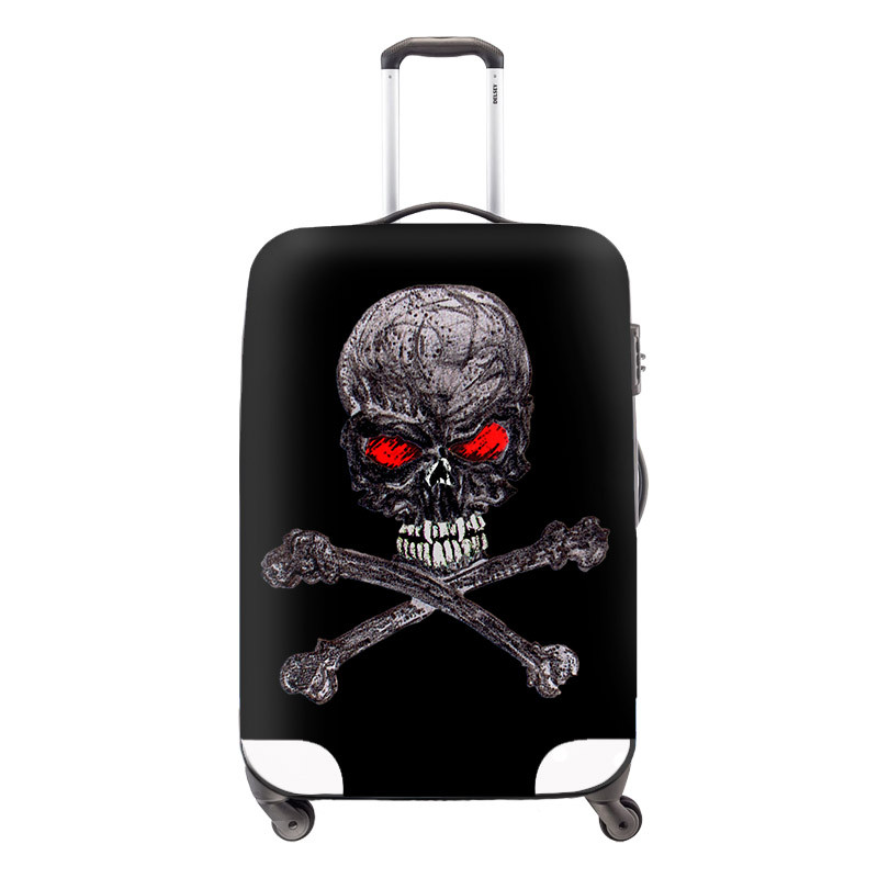 8 Hot Sale 2015 Travel Luggage Cover Cool Skull Luggage Suitcase Covers Fashion Travel Dust Cover Bags for 22-26 inch Suitcases