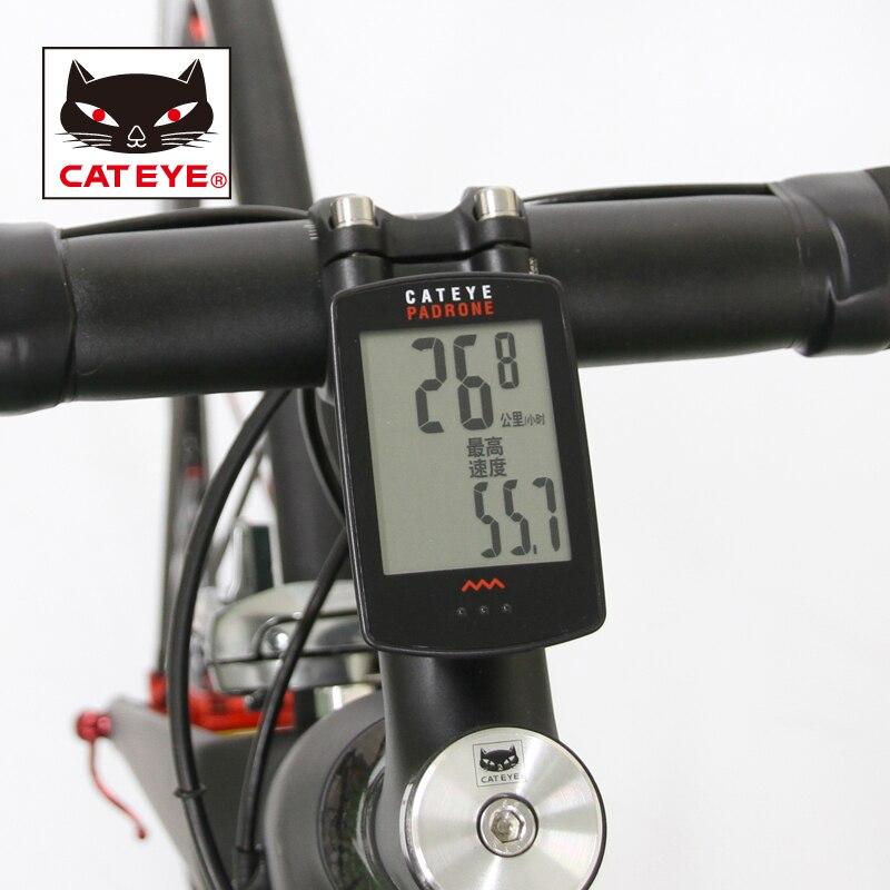 e67f2e5bb CATEYE ciclismo bicicleta patrón Digital de la computadora inalámbrica  velocímetro cronómetro CC PA100W con 7 funciones más grande de 6 colores en  ...