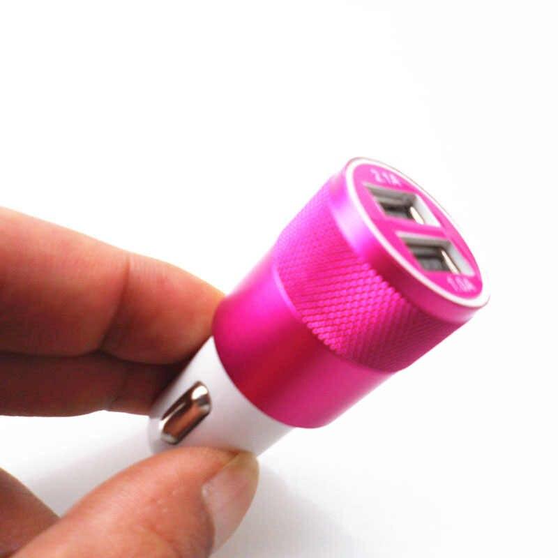 المزدوج USB سيارة ولاعة السجائر شاحن مقبس المعادن قابس مهايئ 2.1A ل ميتسوبيشي ASX أوتلاندر لانسر تطور باجيرو