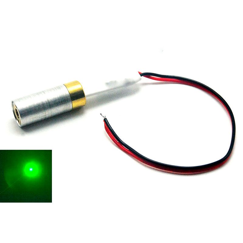 1230 532nm 10mW Green Laser Diode Module Focus Dot Point Industrial Grade 5V