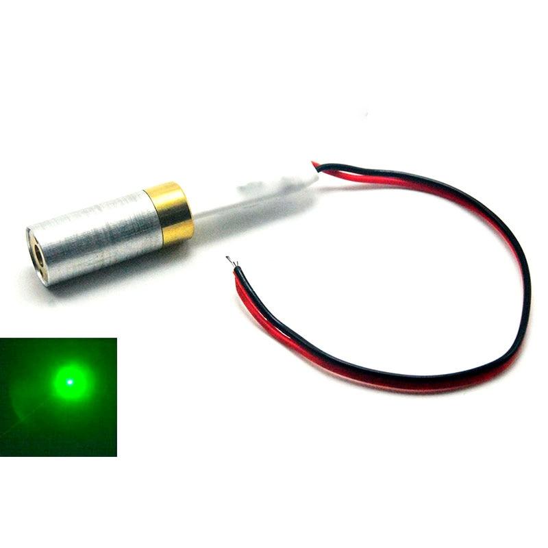1230 532nm 10mW Green Laser Diode Module Focus Dot Point Industrial Grade 5V