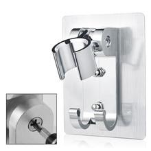 Adjustable Shower Head Holder Wall Mount Bracket With 2 Hanger Hooks, Aluminum Super Heavy Duty Strong Adhesive For Bathroom