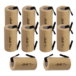 Real capacity 10 pcs SC battery 1.2v SUBC batteries rechargeable 1300mAh nicd battery replacement for CASALS power tools