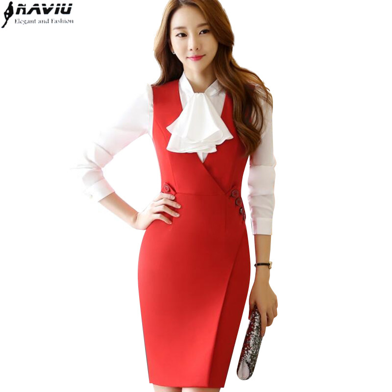 New Fashion Summer Dress Work Wear Slim