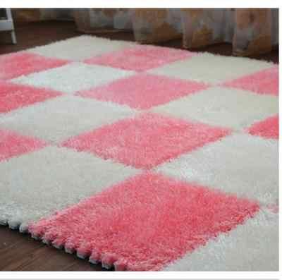 Genäht wildleder netto rot teppich puzzle schaum boden matte schlafzimmer voller boden matte-115