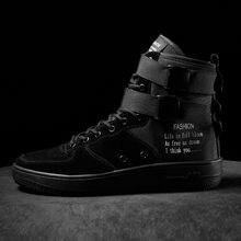 33ee5bfafd Sapatos Masculinos Outono 2018 Calçados casuais Dos Homens das Sapatilhas  Vermelhas Brancas exército botas Lace Up