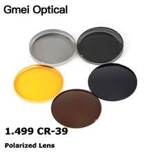 Gmei optik 1.499 CR 39 polarize güneş gözlüğü reçete optik lensler sürüş balıkçılık için UV400 parlama önleyici polarize lensler