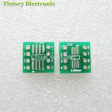20 шт./лот TSSOP8 SSOP8 SOP8 к DIP8 interposer печатной плате модуля адаптер пластины