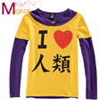 Anime NO GAME NO LIFE Sora Cosplay Costume Short /Long Sleeve Tee Shirts Casual T-shirt Tops for Girls Boys