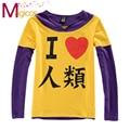 Anime NO juego NO LIFE Sora Cosplay manga corta / larga Tee Shirts Casual tapas de la camiseta para niñas