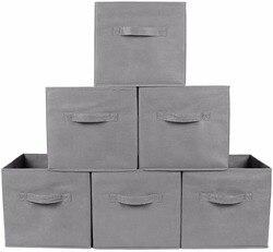 Fabric Folding Cube Non-woven Storage Bins for toy Underwear clothes shirt Organizer book Storage box Large Baskets Cosmetics