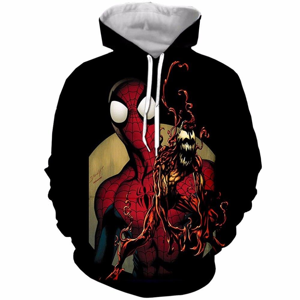 PLstar Cosmos Kids 3D Hoodie Spiderman Venom 3D Print Boys Sweatshirts long sleeved Teens Hooded Pocket Pullover Autumn tops in Hoodies amp Sweatshirts from Men 39 s Clothing