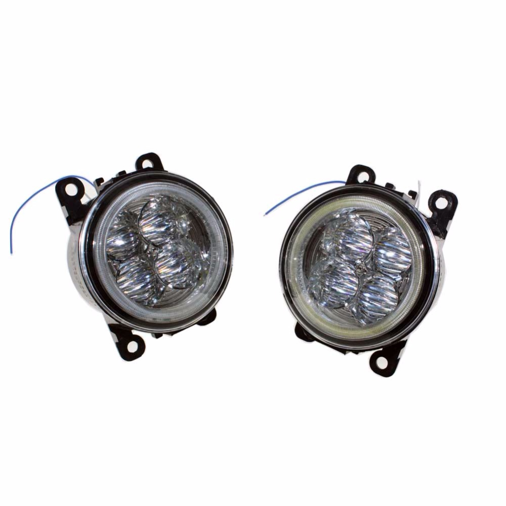 For Ford C-Max / Fusion 2013-2014 Car Styling Bumper Angel Eyes LED Fog Lamps DRL Daytime Running Fog Lights OCB Lens 2pcs car styling round front bumper led fog lights drl daytime running driving fog lamps for ford ranger 2012 2013 2014 2015