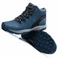 High Top Outdoor Sport Hiking Shoes For Men Genuine Leather Plush Fur Hiking Shoes Snow Boots