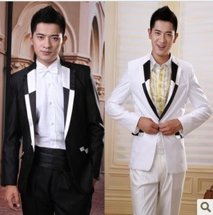 Frete grátis 2015 new arrival Coreano trajes de moda terno Dos Homens do noivo smoking terno do casamento da noite calças terno masculino