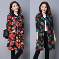 Womens Winter Jackets And Coats Autumn Jacket Fashion Women Full Slim Single Breasted Print Long Plus Size