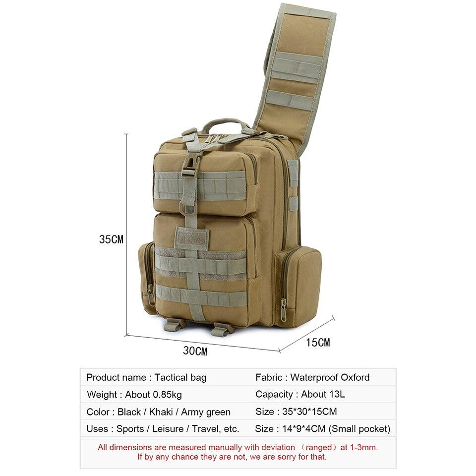 Outdoor Sport Taktische Tasche Military Taschen Assault Camouflage Bagpack Wasserdichte Schulter Tasche Pack Molle Messenger Brust Daypack