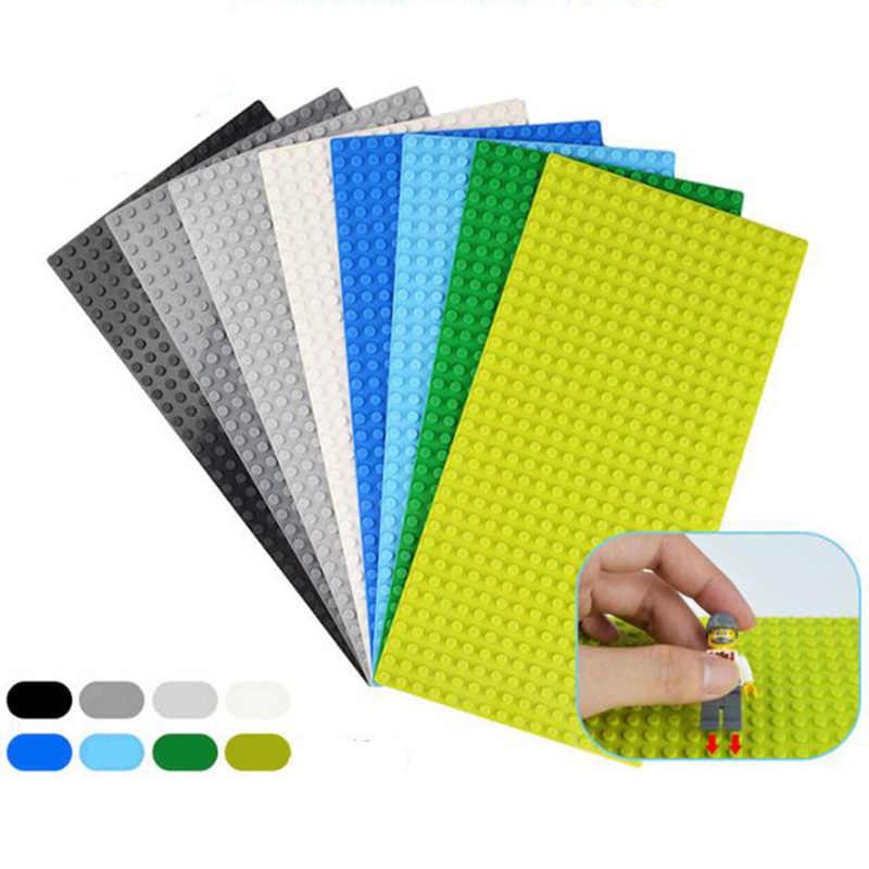 Placa Base puntos pequeños verde rosa azul negro gris placa Base para ladrillos 5 colores placa Base DIY bloques de construcción para los niños
