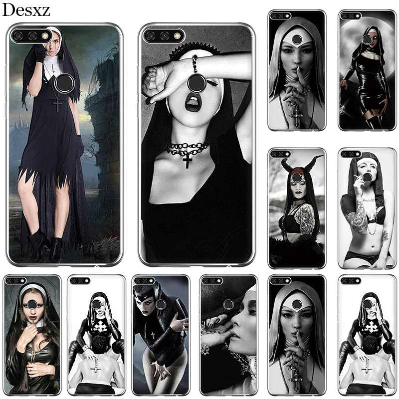 Phone Case Cover For Huawei Honor 6A 7A 7X 8X 8 9 10 Pro Lite Y6 2018 Nun Sexy Girl soft tpu