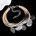 Bracelets for Women Pulseras Fashion Silver Gold Leaves Bird Charm Bracelets & Bangles Girls Bracelet Femme Pulseira Masculina