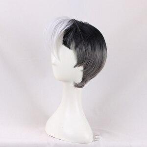 Image 3 - Nova chegada voltron: lendário defensor shiro peruca voltron lendário defensor anime cosplay cabelo adereços homens vendas quentes + peruca boné