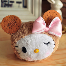 Hello Kitty biscuits kt kits family set series – coin wallet cat  toys girl's gift free shipping